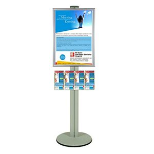 1450mm A2 Poster & Brochure Display Pole