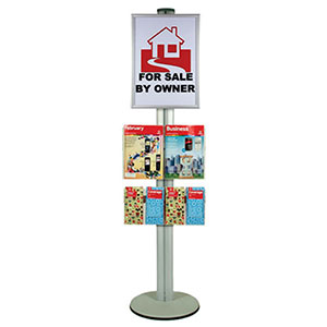 1800MM-A2-POSTER-BROCHURE-DISPLAYER-POLE