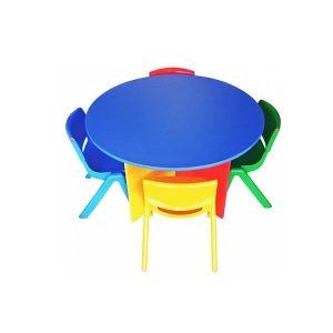 Chilrens Coloured Round Table