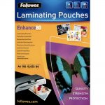 FE5306101_fellowes_fellowes_80_micron_a4_glossy_laminating_pouches_100_pack_clear