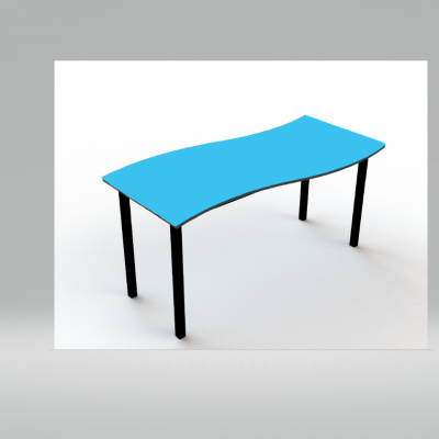 Tempo Wave Table Peacock Black Edge