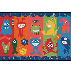 Alphabe Monsters Rug