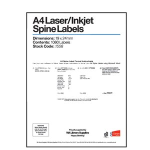 Labels – Laser - Inkjet Spine 9 Across