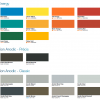 colour swatch - interpon