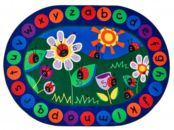 Ladybug Circle Time Rug library and classroom floor mat