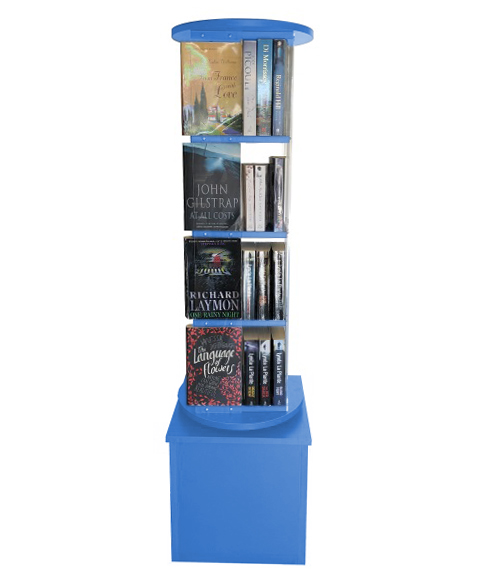 Library Book Display Spinner 2594 Turquoise