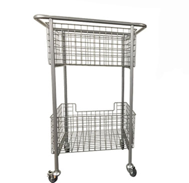 wire basket library book trolley