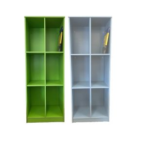 book display shelf - green and blue big shelf