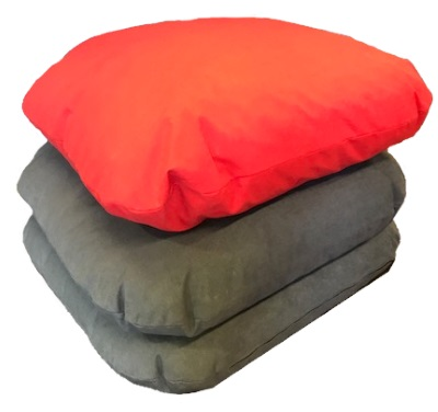 classroom library giant floor cushions red grey