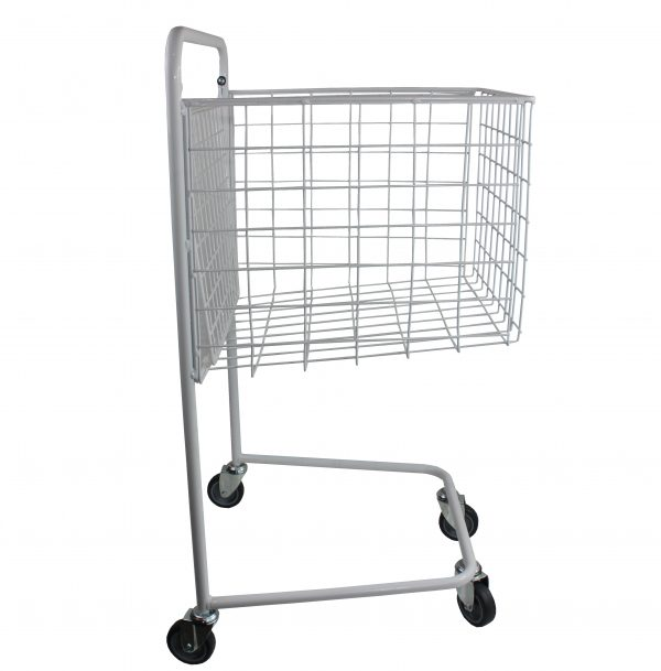 nesting wire basket library trolley