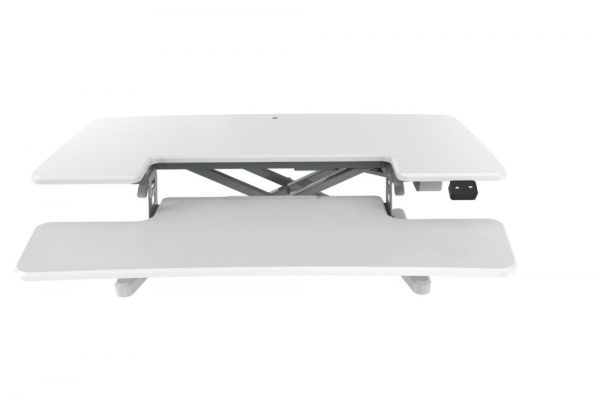 flux electric sit stand desk riser ergonomic
