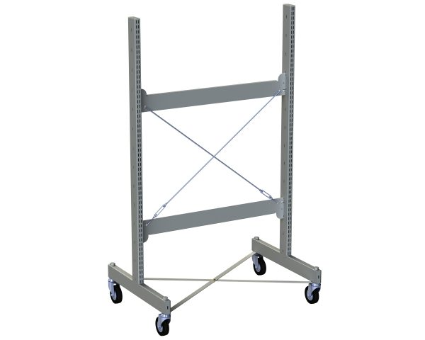 Hydestor Double Sided Metal Shelving Mobile