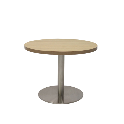Round Coffee Table with Flush Base Base