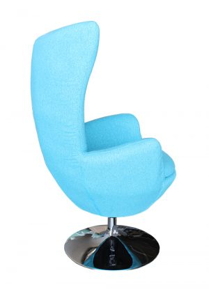 classroom library teacher reading chair blue egg shaped
