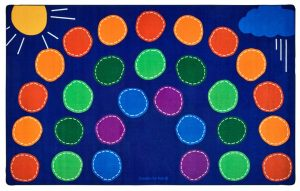 rainbow seating floor mat classroom and library rugs