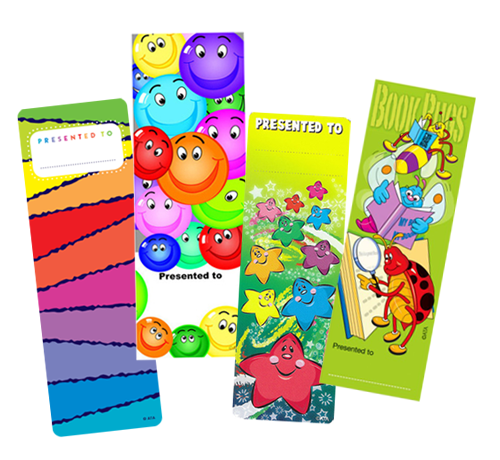bright and colourful bookmars